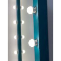 Гримерное зеркало с подсветкой 180х80 аквамарин