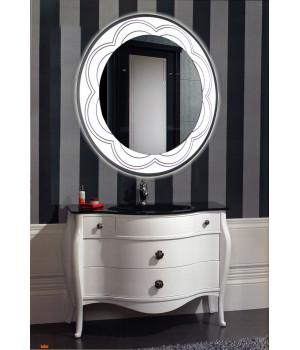 Зеркало в ванну с подсветкой лентой Венеция