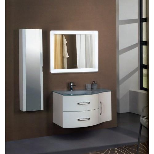 Зеркало в ванную комнату с контурной подсветкой светодиодной лентой Скарлет